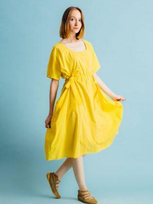 Rochie galbenă legată